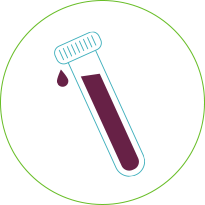 Blood test tube icon